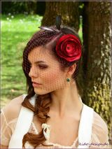 Fascinator Bordeaux Tiefrot